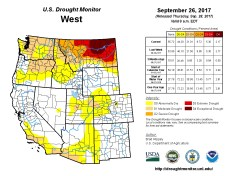West Drought Monitor September 26, 2017.
