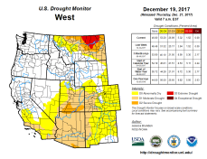 West Drought Monitor December 19, 2017.