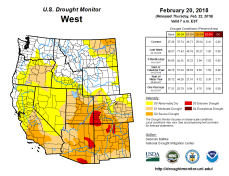 West Drought Monitor February 20, 2018.