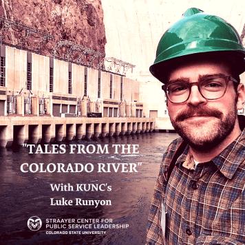 Luke Runyon near Hoover Dam power plant February 2018 via Colorado State University.