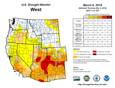 West Drought Monitor March 6, 2018.