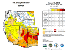 West Drought Monitor March 13, 2018.