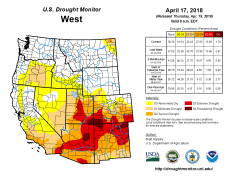 West Drought Monitor April 17, 2018.