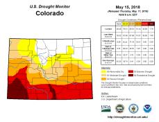 Colorado Drought Monitor May 15, 2018.