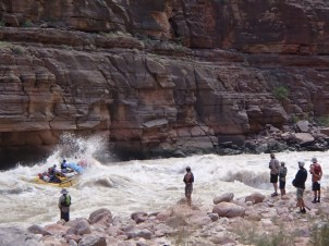 Scouting Upset Rapid, on the Colorado River. Photo: Greg Schaffron