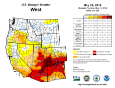 West Drought Monitor May 29, 2018.