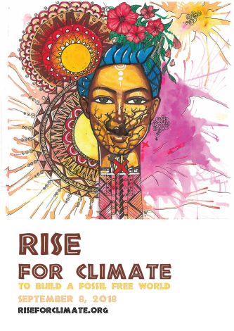 Chela is a Nairobi based visual artist who specializes in graffiti and fine art. Chela has gained extensive experience experimenting on the streets of Nairobi. Chela has managed to successfully train some young people on how to use art as a tool for social change. Graphic via: RiseForClimate.org