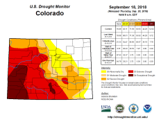 Colorado Drought Monitor September 18, 2018.