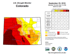 Colorado Drought Monitor September 25, 2018.