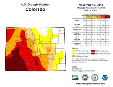 Colorado Drought Monitor November 6, 2018.