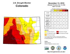 Colorado Drought Monitor November 13, 2018.