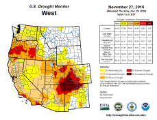 West Drought Monitor November 27, 3018.