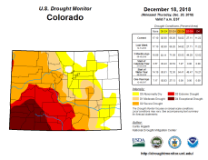Colorado Drought Monitor December 18, 2018.