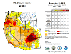West Drought Monitor December 11, 2018.