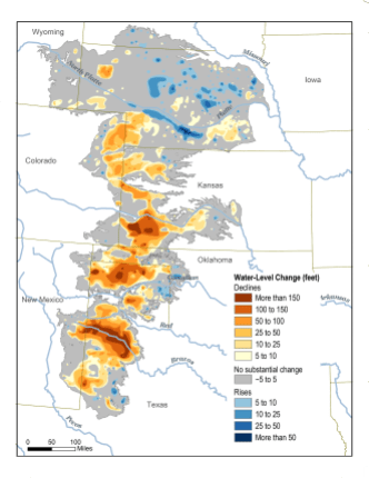 The Ogallala aquifer, also referred to as the High Plains aquifer. Source: National Oceanic and Atmospheric Adminstration