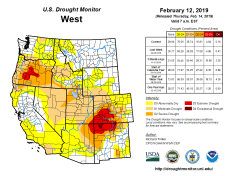 West Drought Monitor February 12, 2019.