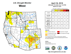 West Drought Monitor April 16, 2019.