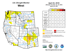 West Drought Monitor April 23, 2019.
