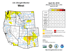 West Drought Monitor April 30, 2019.