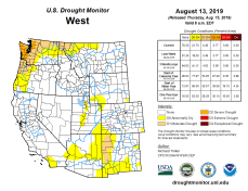 West Drought Monitor August 13, 2019.