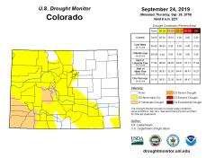Colorado Drought Monitor September 24, 2019.