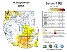West Drought Monitor September 17, 2019.