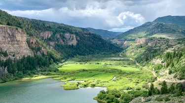 The 77-acre Sweetwater Lake and more than 400 acres surrounding it could be open to the public if a conservation plan shifts the property into the White River National Forest. (Provided by The Conservation Fund via The Colorado Sun)