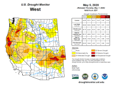 West Drought Monitor May 5, 2020.