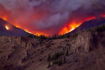 The East Troublesome fire as seen from Cottonwood Pass looking north on the evening of Wednesday, Oct 21, 2020. (Andrew Lussie via InciWeb via The Colorado Sun)