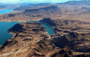 Sustaining Lake Mead for the benefit of downstream water users in the Lower Colorado River Basin has been a key objective of the 2007 Interim Guidelines and the 2019 Drought Contingency Plans. (Source: Lighthawk via The Water Desk)