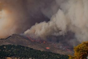 The Calwood Fire approaches Boulder, CO. Photo credit: Malachi Brooks via Water for Colorado