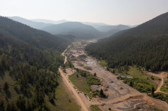 Looking East to the Continental Divide (07/19/2021). Photo credit: Swan River Restoration Project Blog