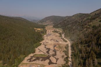 Looking West to the Tenmile Range (07/19/2021). Photo credit: Swan River Restoration Project Blog