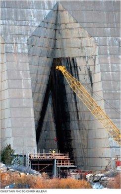 Construction at Pueblo Dam.