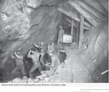 Gold King Mine circa 1899 via The Silverton Standard