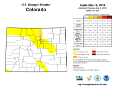 Colorado Drought Monitor August 6, 2016.