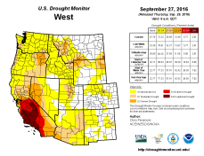 West Drought Monitor September 27, 2016.