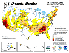 US Drought Monitor December 20, 2016.