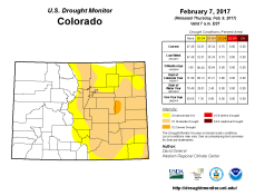 Colorado Drought Monitor February 7, 2017.