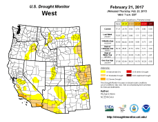 West Drought Monitor February 21, 2017.