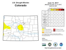 Colorado Drought Monitor June 13, 2017.