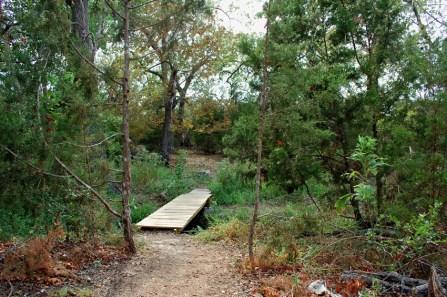 The pond trail bridge