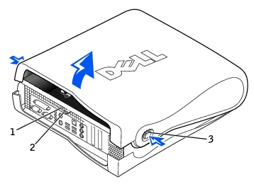 Computer Cover: Dell OptiPlex GX260 Service Manual