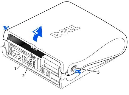 Computer Cover: Dell OptiPlex GX260 Service Manual