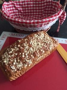 brown bread, brown bread recipe, porridge, wholemeal flour, healthy bread