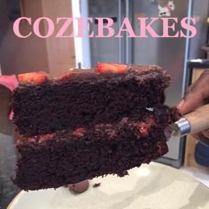 chocolate cake, rich chocolate cake, ultimate chocolate cake, easy chocolate cake, quick chocolate cake, cozebakes, party cake, celebration cake