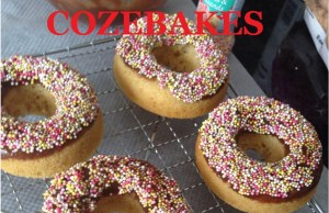 doughnuts, baked doughnuts, low fat doughnuts, cozebakes, no fry doughnuts, bake with kids,