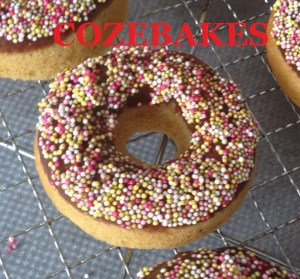 doughnuts, baked doughnuts, chocolate frosted doughnuts, cozebakes, low fat doughnuts