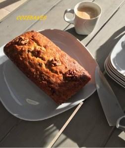 banana loaf, banana bread, banana cake, gluten free, cozebakes, afternoon tea, easy bakes, easy recipes