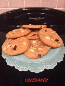 gluten free cookies, gluten free recipe, cookies, cozebakes, cranberry cookies, white chocolate, easy cookie recipe, easy gluten free cookie recipe, gluten free biscuit recipe, gluten free biscuits